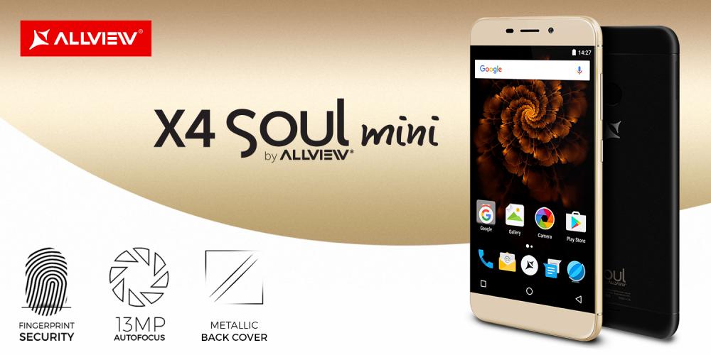 Allview lansează smartphone-ul X4 Soul mini,  cel mai accesibil terminal din această gamă de vârf