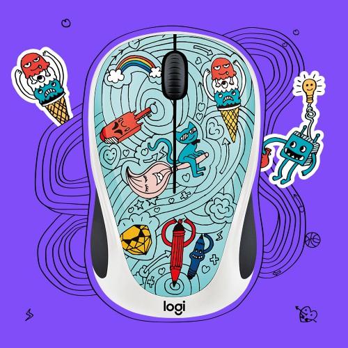 Derulează până la fericire cu noua colecție Logitech Doodle 2017