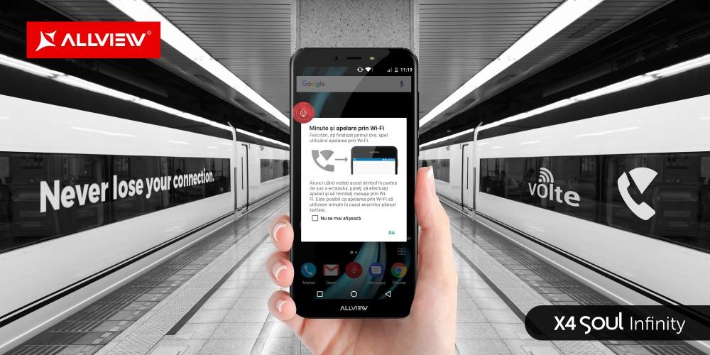 Apeluri VoLTE și Wi-Fi pentru toate telefoanele din gama X4 Soul Infinity