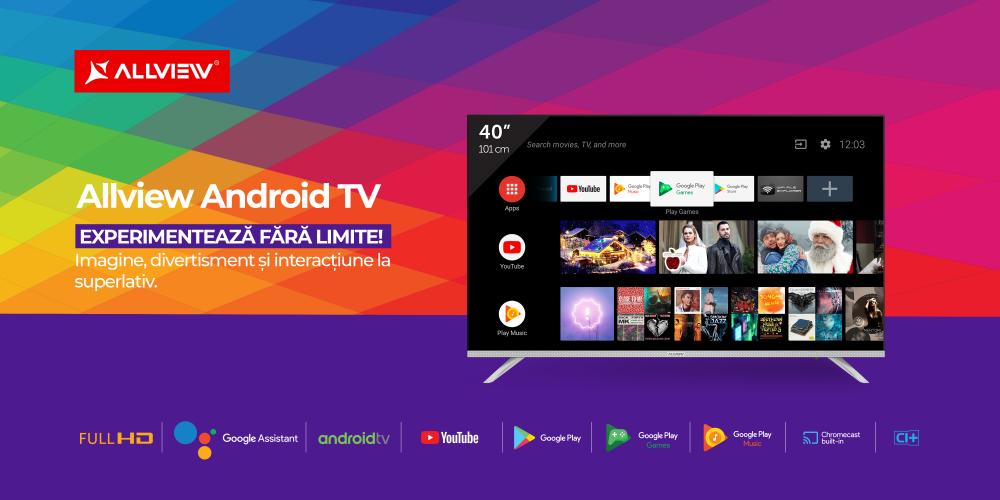"""Allview țintește cel mai popular segment de smart tv Specificațiile de top ale Allview Android TV, în varianta 40"""""""
