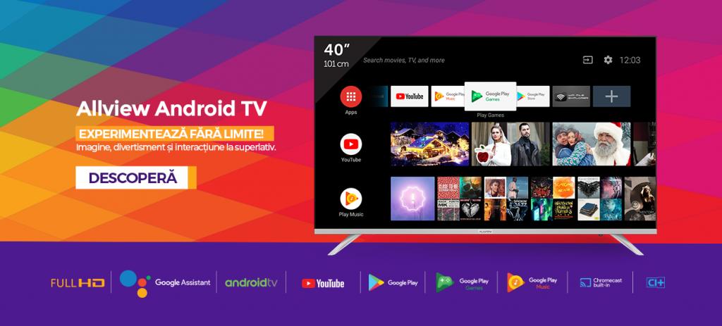 Allview Android TV 40 inch vine cu voucher de 200 lei cadou!