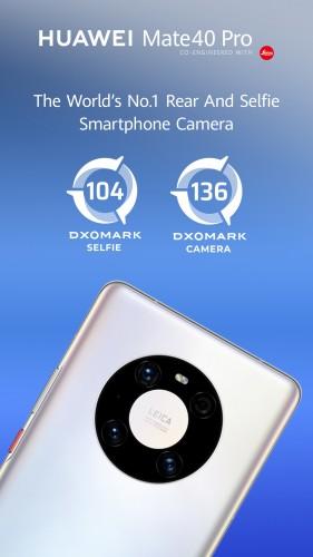 HUAWEI Mate 40 Pro, noul campion al DxOMark, cu cea mai bună cameră smartphone din lume